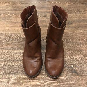 Nine West Cognac Ankle Booties